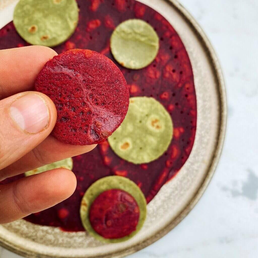 Ricetta crepes colorate Il Punto Bio