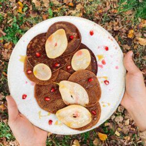 Pancake con farina di castagne
