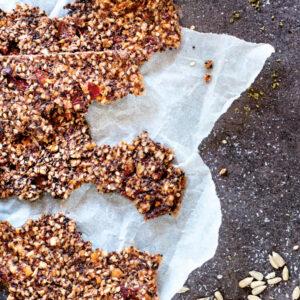 Barrette homemade dolci con frutta secca ed essiccata